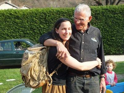 Estelle et Robert sac au dos
